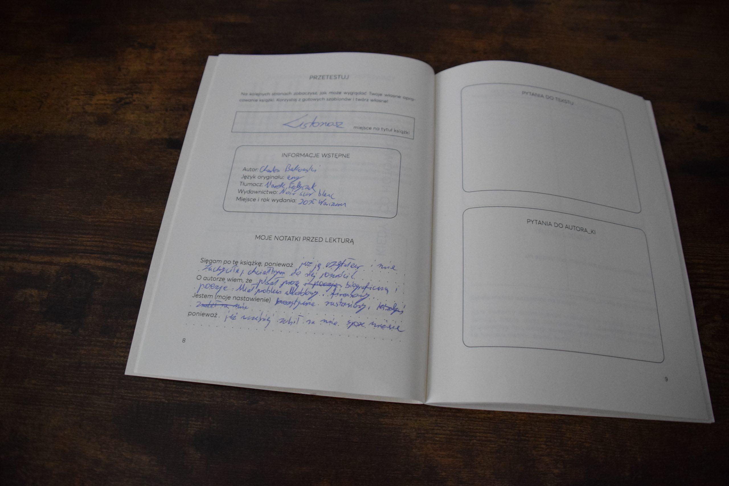 Łukasz - notatki z lektury
