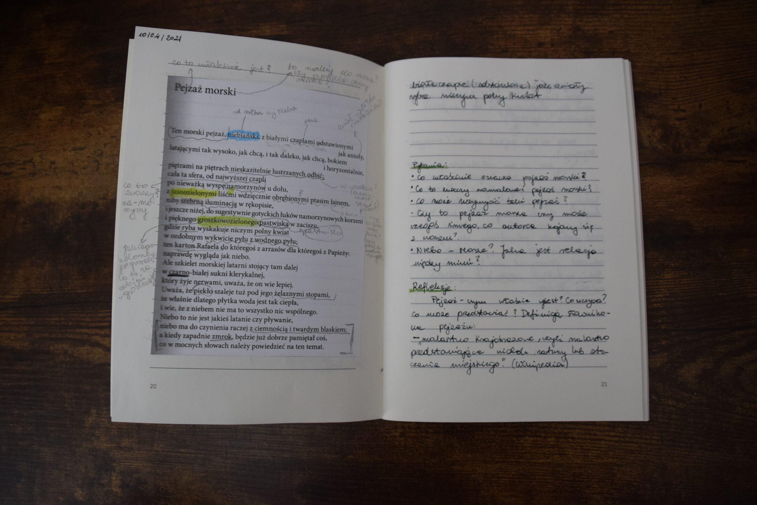 Samanta - notatki z poezji